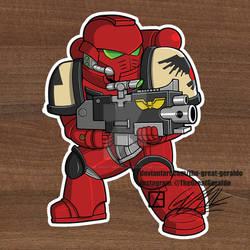 Chibi Sticker SpaceMarine BloodRaven