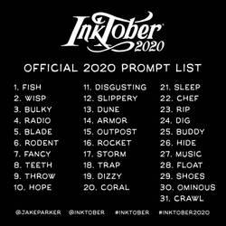 Inktober 2020 Lineup