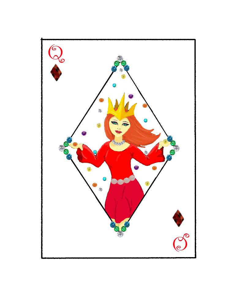 Queen of Diamonds by TexacoPokerKitty