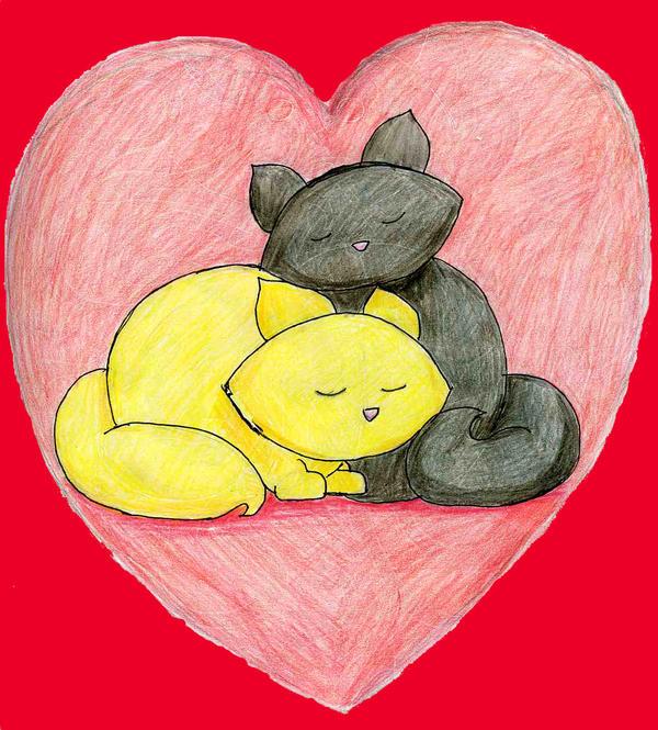 Nikia and Toki: Love Kitties by TexacoPokerKitty