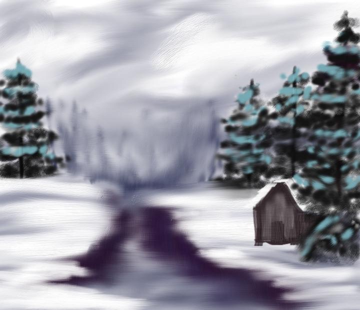 Winter Landscape by TexacoPokerKitty