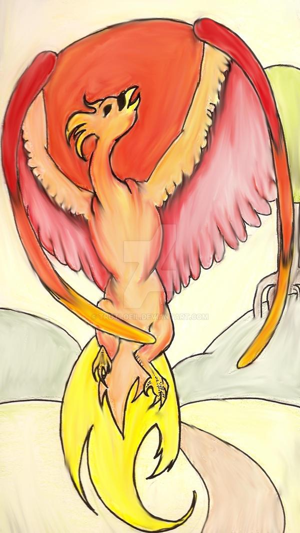 Art Nouveau Firebird by TexacoPokerKitty