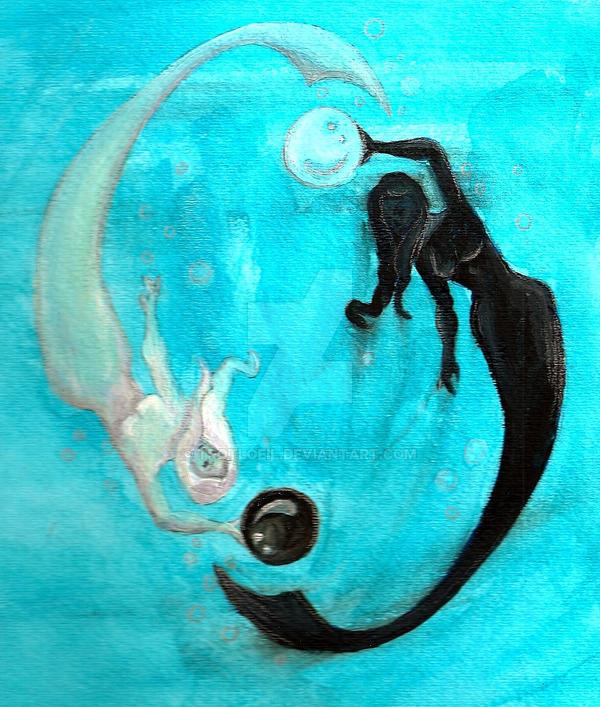 Yin and Yang Underwater by TexacoPokerKitty