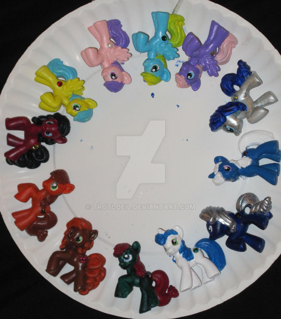 My Little Birthstone Ponies by TexacoPokerKitty
