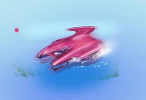 Pink Catamaran by Theclockworkpainter