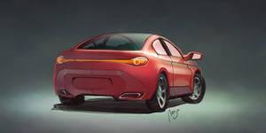 Car Rear by Theclockworkpainter