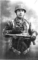 German Soldier with Mp40 by luba4ko