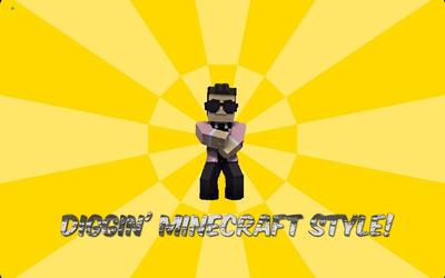 Minecraft style background by Siamare