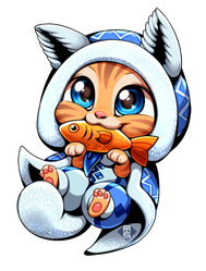 Tobi-Kadachi Felyne (Monster Hunter World) by Aishishi