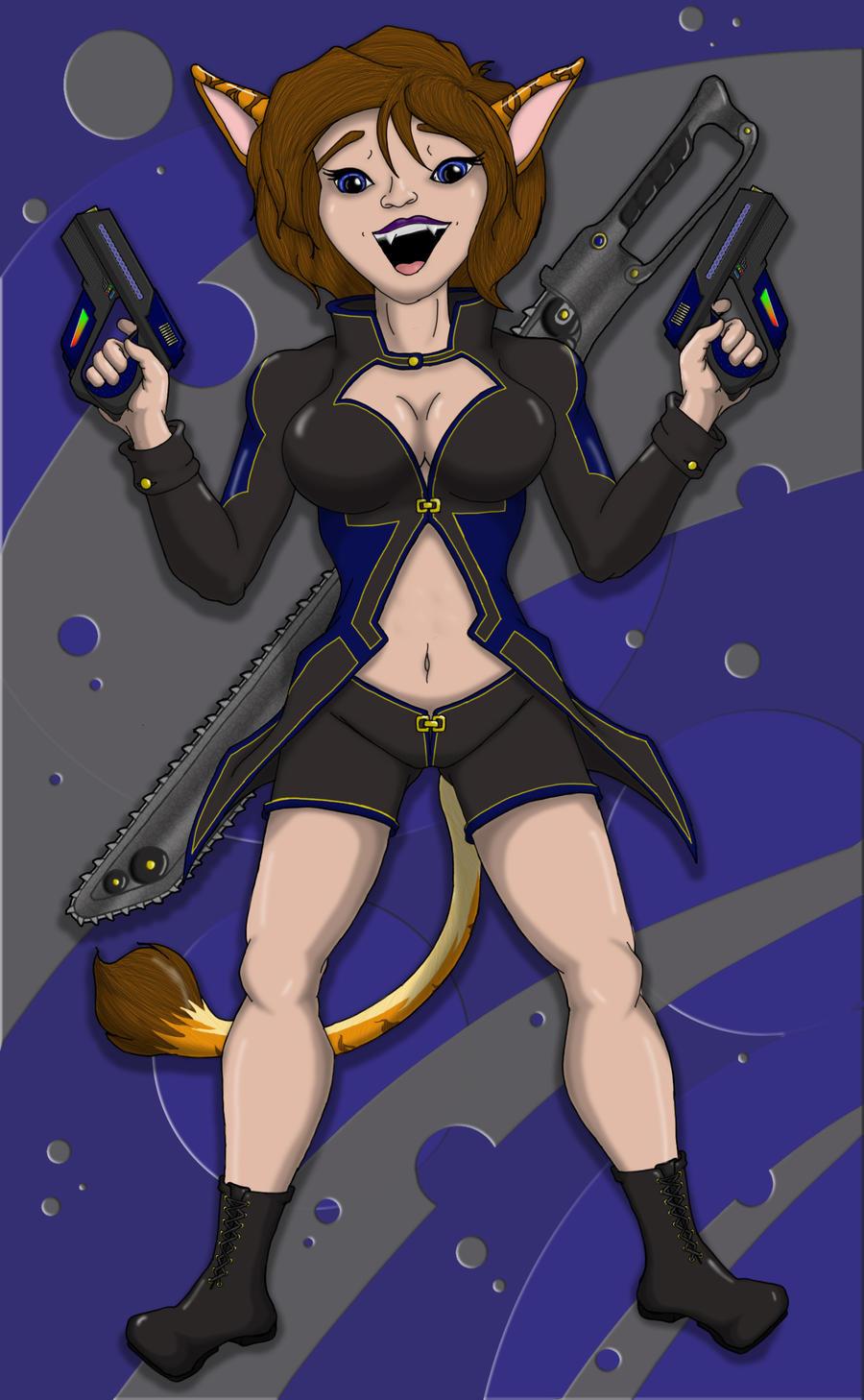 Nika, armed and ready by Carasibana