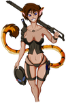 Nika with Predator Based combat gear (SFW Version)