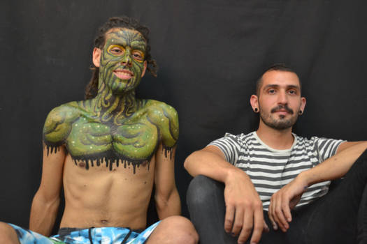 cthulhu bodypainting done
