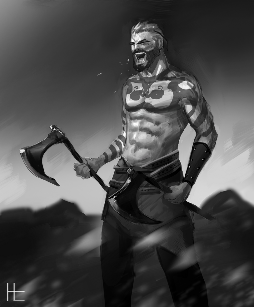 Viking Axe Warrior by BlandStuffTastesNice