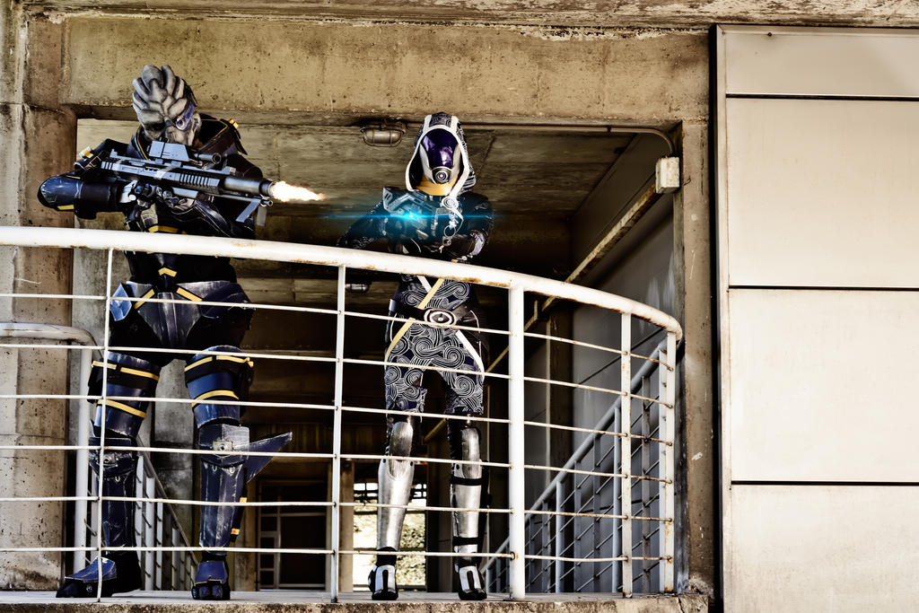 Mass Effect  - Garrus and Tali cosplay by Nebulaluben