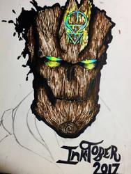 Treant Head (Inktober 2017)