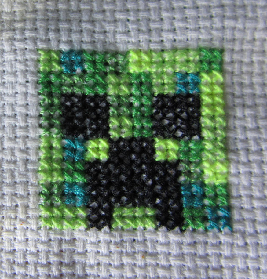 Creeper Cross Stitch By Byakko92 ...