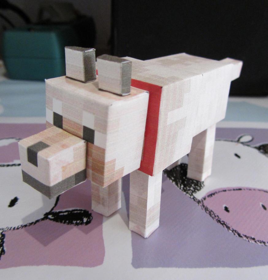 Wild Wolf Minecraft Papercraft