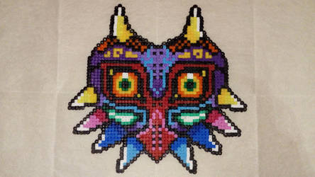 Majora in Hama beads by Byakko92