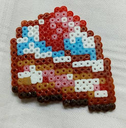 Cake in Hama beads by Byakko92