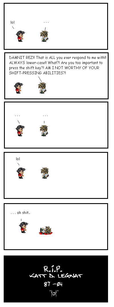Sprite Comic -- lol by kattlegnat