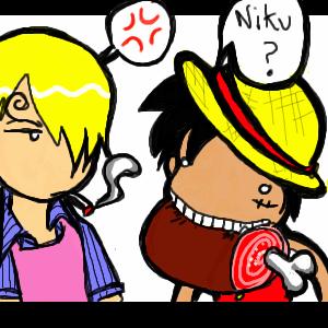 OP -- Luffy and Sanji by kattlegnat