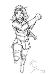 Flygirl Sketch by BegbieRentonspud