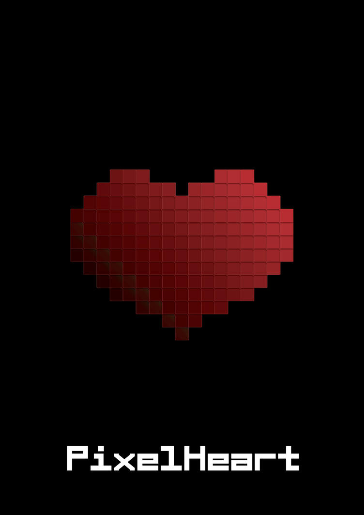 Pixel Heart Poster by capdevil13 on DeviantArt