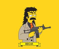 Rocha Simpsonized by capdevil13