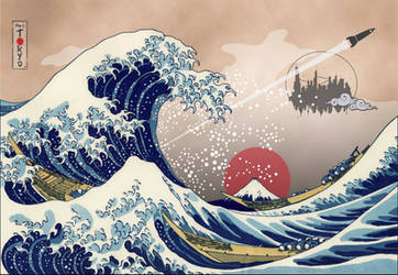 The Great Wave off Kanagawa 2.0 by capdevil13