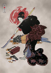 Onna-Bugeisha Ishi-jo 2.0 by capdevil13
