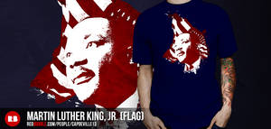 Martin Luther King, Jr. (with flag)