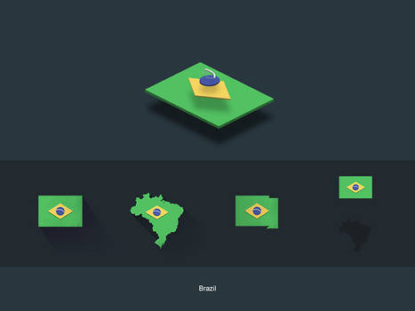 Flat Flags Brazil