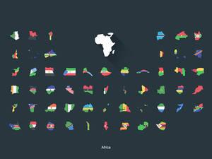 Flat Flags Africa