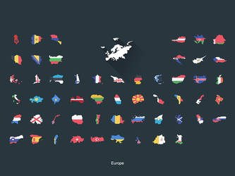 Flat Flags Europe by capdevil13
