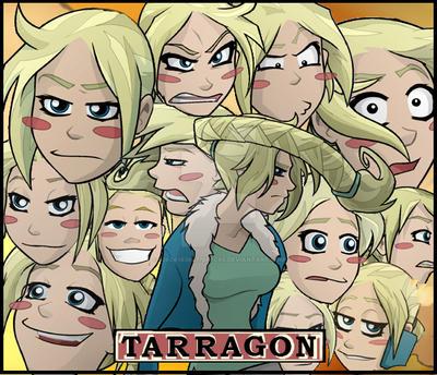 Tarragon's emotional make up. by 426c61636b776f6c66
