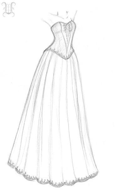 Dress design by vaoni on deviantart Wedding dress design love nikki