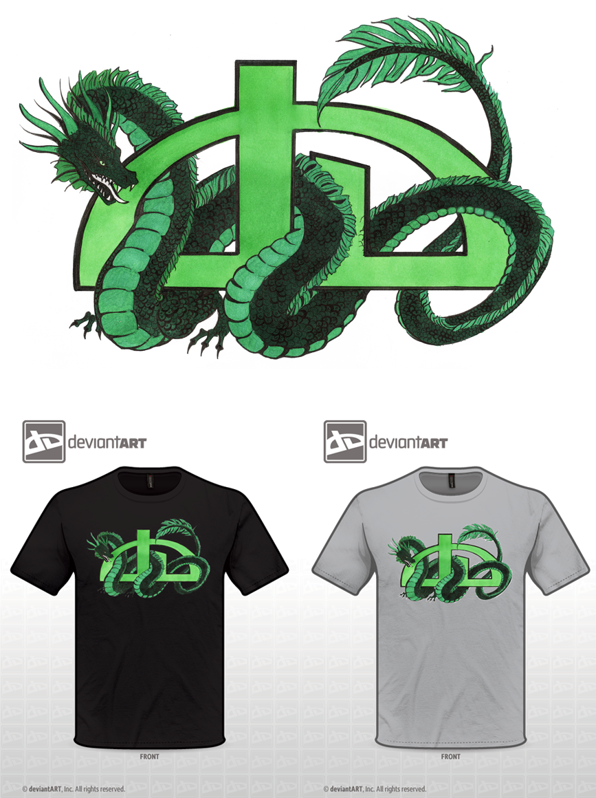 DeviantArt Logo Dragon by vaoni