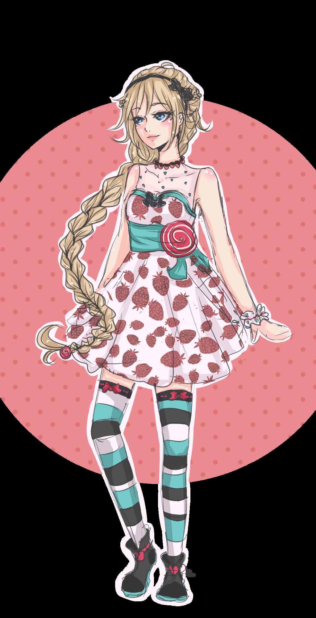 Sweet dress for Kevinne by JZoya