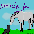 horse and dog pixel avatar-smoky2 by Sputnk