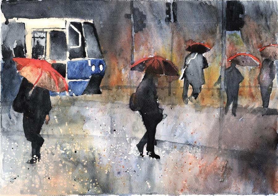 rain in Wroclaw by lemonik6