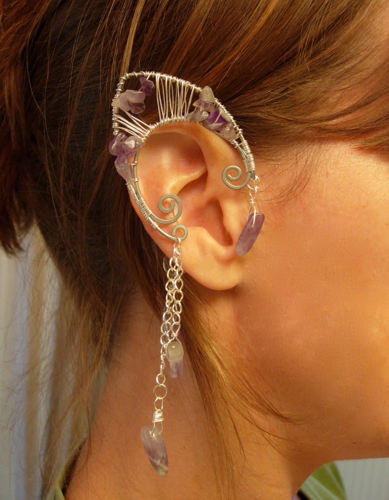 Faerie Ear Cuffs, Elf Ear Cuffs,  Pair by jhammerberg