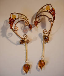 Autumn Inspired Genuine Amber Elf Ear Wraps by jhammerberg