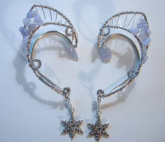 Ice Fairy Elven Ear Wraps by jhammerberg