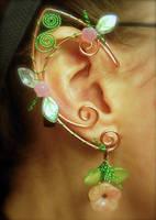 Garden inspired Spring Elf Ear Wraps by jhammerberg