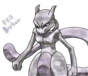 Mewtwo Color Sketch