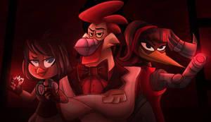 Gandra Dee, Steelbeak and Black Heron