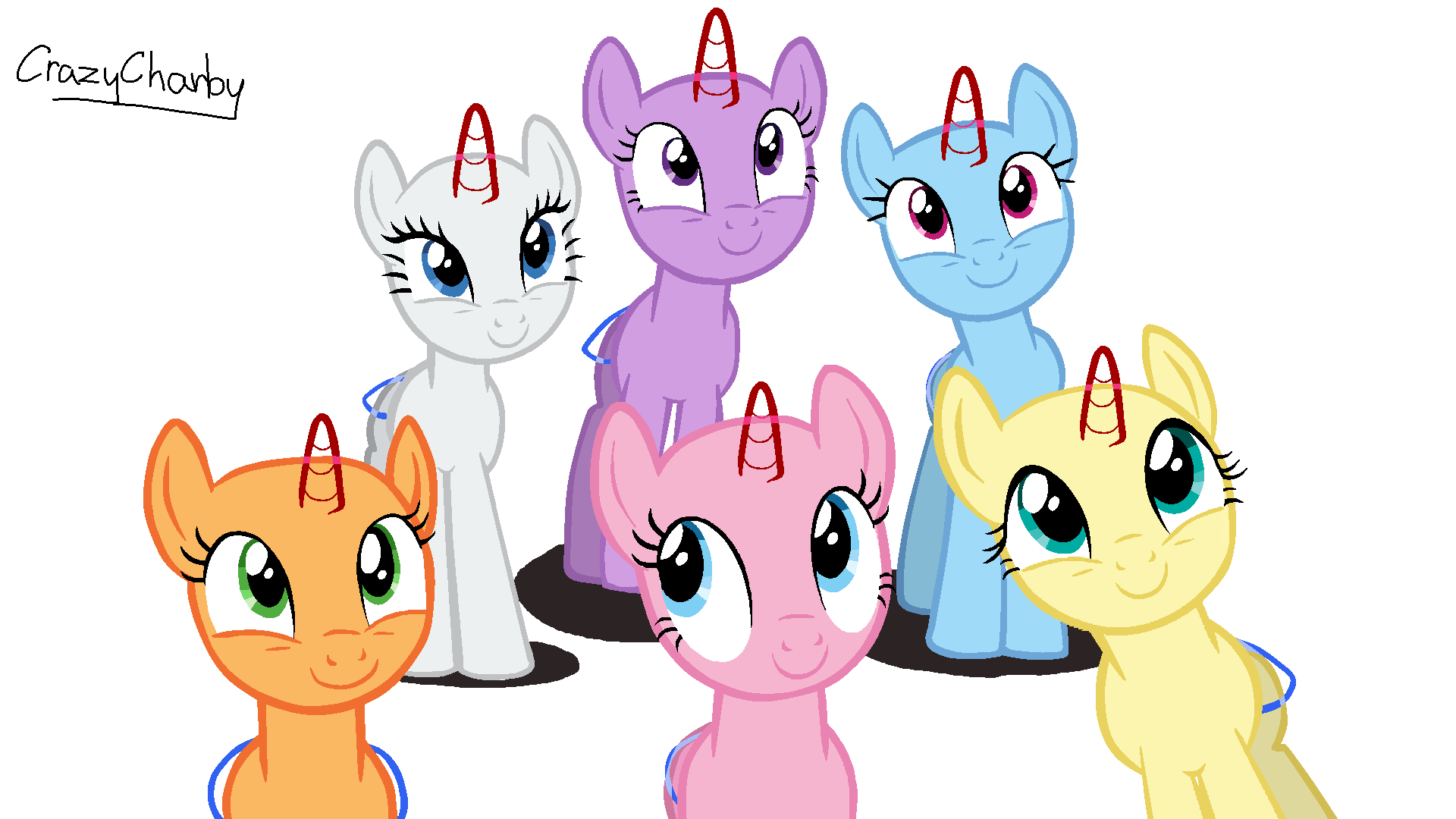 Toys For 7 And Up Mane Provided : Mlp mane base ms paint pixshark images