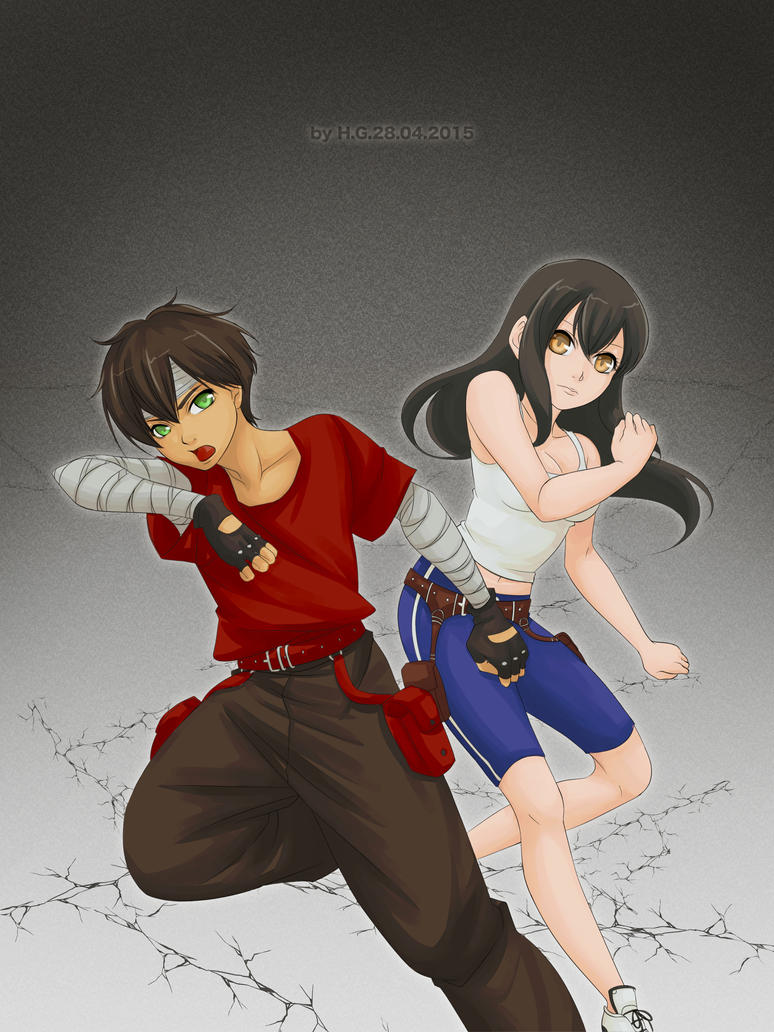 Hiro and Hana by aj100gogogo