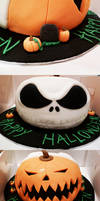 Jack Skellington Pumpkin Cake