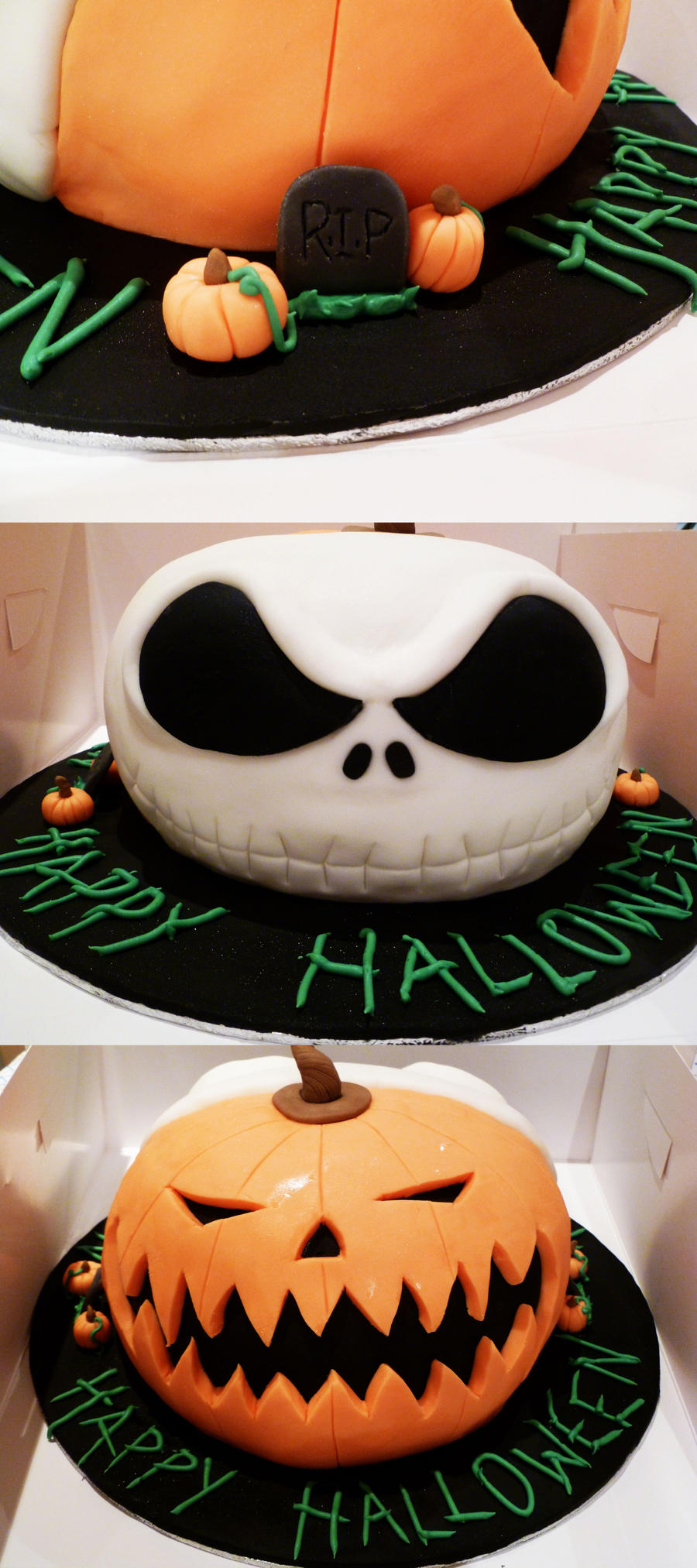 Jack Skellington Pumpkin Cake by Rebeckington